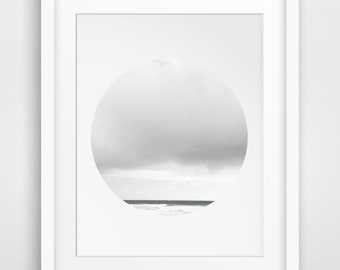 Clouds, Grey Art, Photography, Cloud Print, Circle Photography, Sky Art, Cloud Art, Grey Photography, Minimalist Art, Abstract Photography
