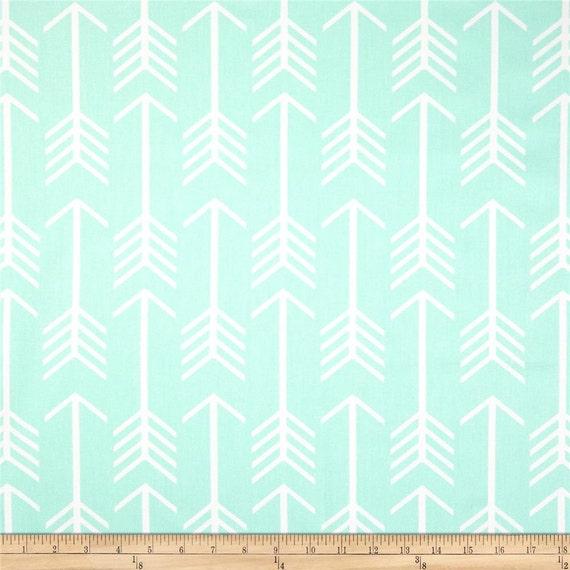 Premier prints arrow twill mint fabric mint and white fabric