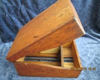 Antique Weis recipe card index box