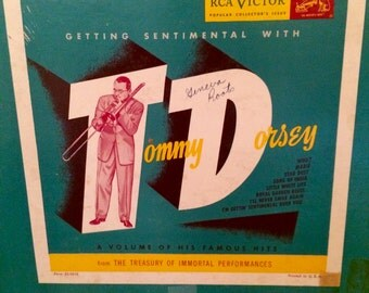 """1940's Tommy Dorsey album """"Getting Sentimental with Tommy Dorsey""""  33 1/3  RCA Victor"""
