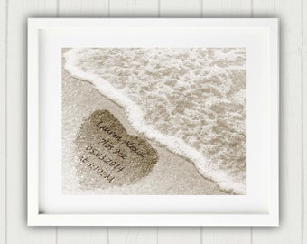 Personalized Baby Gift, Baby Name Print, Unique Baby Gift, New Baby Keepsake, Personalized New Baby, New Baby Gift, Name in Sand, Baby Gift