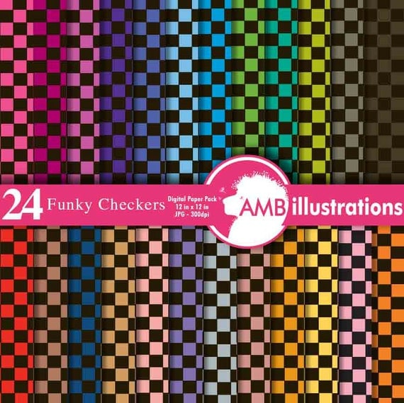 80off Checkered Paper Gingham Papers Black Checkers Plaid Paper