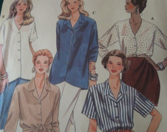 Simplicity 9359, size 14-18, UNCUT sewing pattern, misses, womens blouse