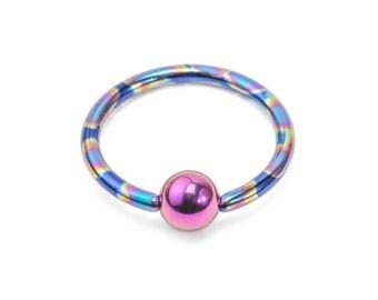 20g Niobium Captive Bead Ring - Handmade - Price Per 1