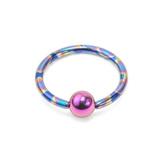 20g niobium captive bead ring handmade by unbreakablejewelry