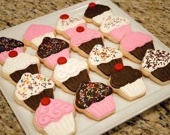 Cupcake Sugar Cookies (1 Dozen)