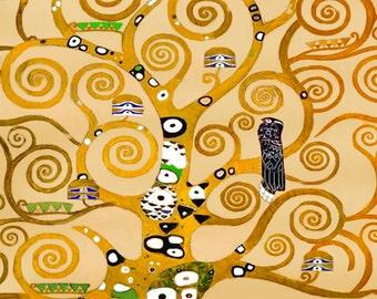Fabric Panels; Gustav Klimt, Tree of Life Symbolist Art. Craft/ Quilting/ 100% Cotton/ Applique