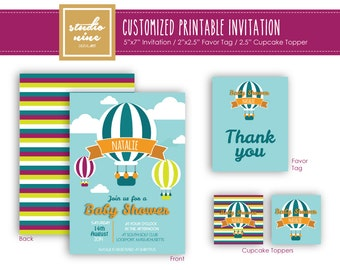 Printable Customized Invitation - Balloon
