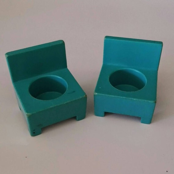 Vintage Fisher Price Little People Chairs Turquoise By Cutiemart