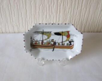 """Limoges S L France Pin Disn """"Tran Siva Etvenit"""" Viking Decoration"""