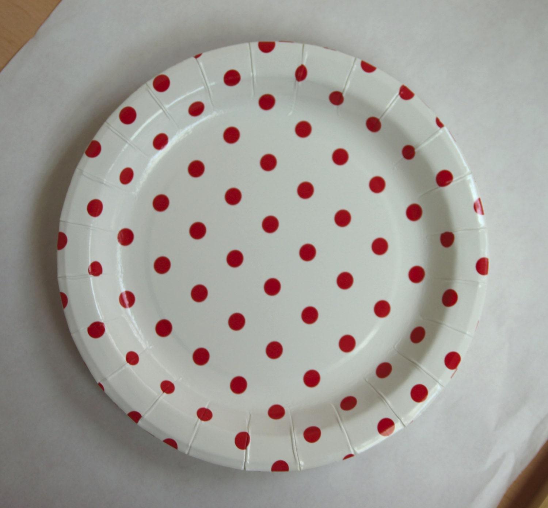 red polka dot paper plates Shop for 8ct black & white polka dot paper dessert plate from buyseasons.