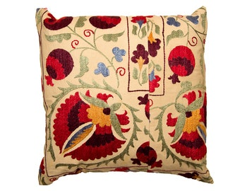 Cushion Cover - VINTAGE SUZANI DESIGN 3