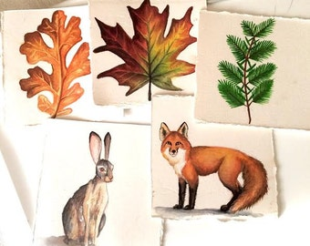 Mini Paintings-woodland series