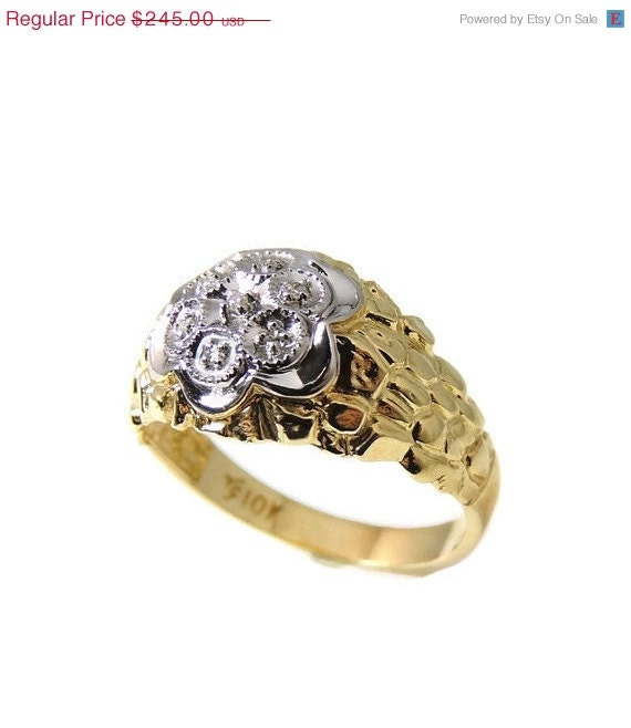 s 10k nugget estate ring by
