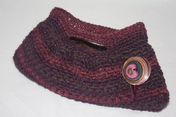 Mini Crochet Bag : Dear Dawn Just Right Mini Crochet Bag in Sparkled Maroon and Purple ...