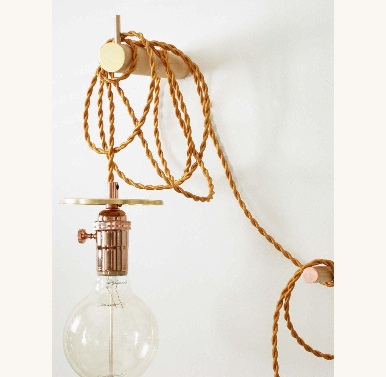 Copper Pendant Lamp Hanging Lighting Bedroom Sconce Foyer Wall