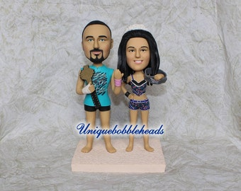 WWE wedding cake topper, Boxing wedding cake topper, fighting, funny cake topper, unique cake topper, cake topper for wedding, WWE