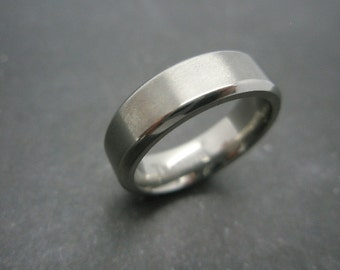 Titanium ring 6mm