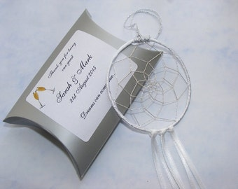 Personalised Dreamcatcher Wedding Favour Giftboxed christening Thank You Gift Favor