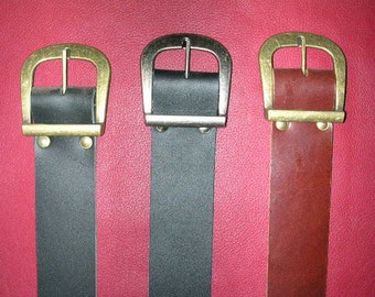 "Heavy Leather Belt 2"", Hand-Crafted Leather Belts"