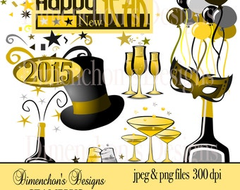 Happy New Year (Clipart)