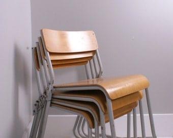Children's Vintage Metal Legged Stackable Chairs - Children's Furniture