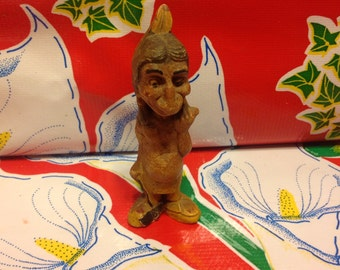 Vintage politically incorrect American Indian resin figurine