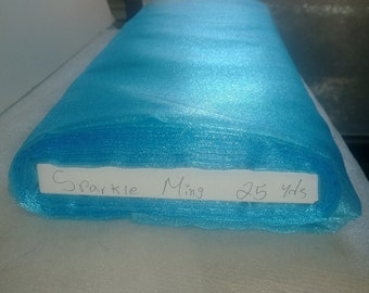 "Sparkle Organza Fabric - Ming, 45"" x 1 Yard"