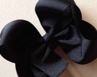 Large 4 inch Black Hair Bow