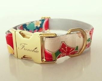 "Adjustable dog collar ""Summer"""