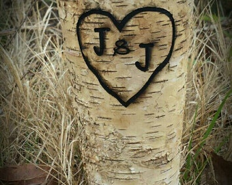 birch vase, personalized wedding,  personalized vase, rustic wedding, rustic home decor, rustic vase, engraved vase, birch wedding