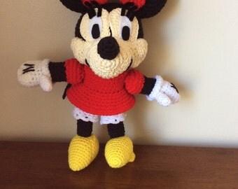 Crochet Minnie Mouse plush