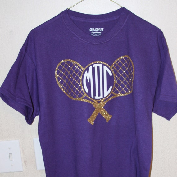 Items Similar To Tennis Shirt With Custom Monogam Tennis