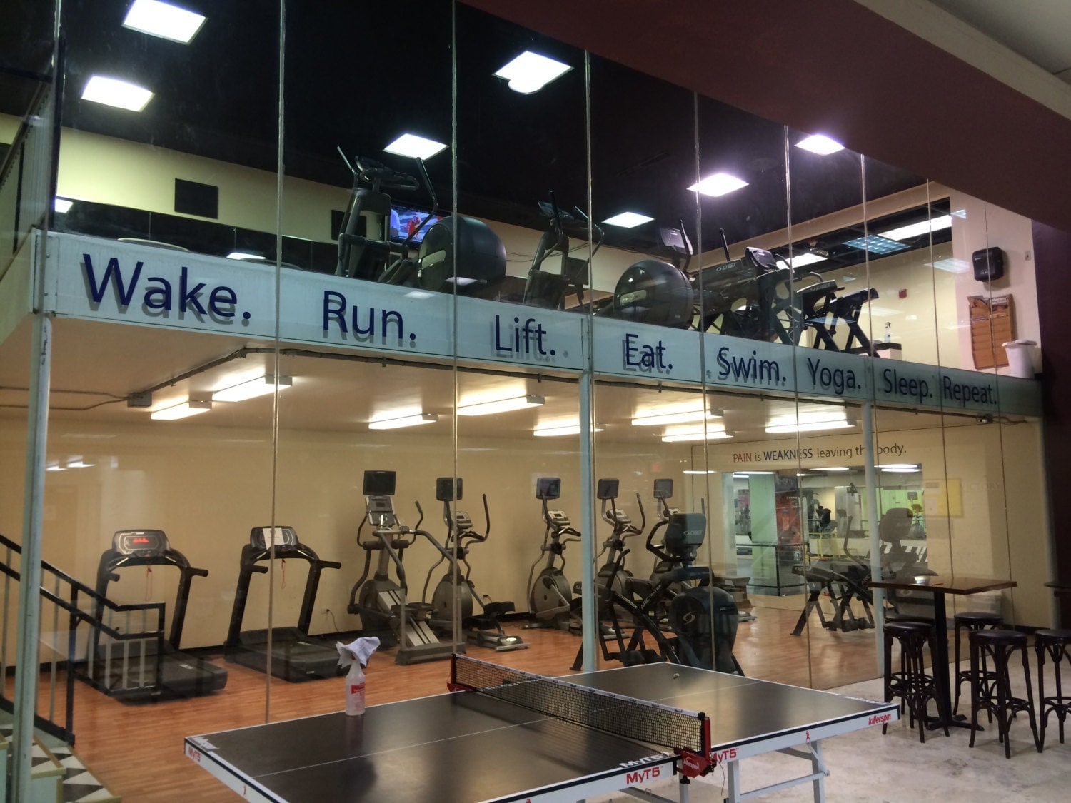 Gym decorating ideas work out vinyl wall decals wake run