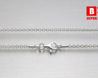 Double Cable Chain, 925 Sterling Silver Necklace, Lobster Clasps (Code : DC2)
