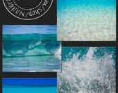 Amazing discount,4 picture set, Turquoise waters, aquamarine,blue,ocean, beach, waves, photography prints, home n office decor, 5x7 fine art
