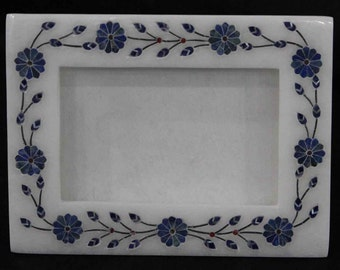 Marble Inlay photo frames handmade Pietra Dura collectible picture frame