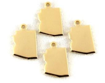 2x Gold Plated Blank Arizona State Charms - M115-AZ
