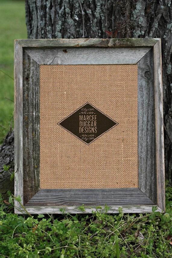 Barn Wood Picture Frame | 8x10 Barn Wood Frame | Reclaimed Wood | Framed Print