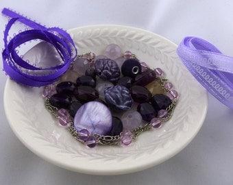 Destash- Purple Bead Mix