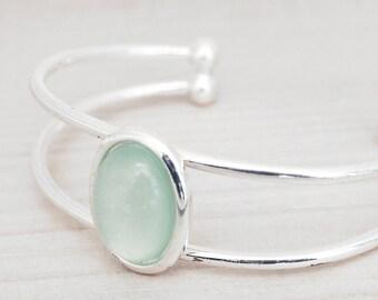 BALANCE/Bracelet cuff pretty - silver - made in Québec