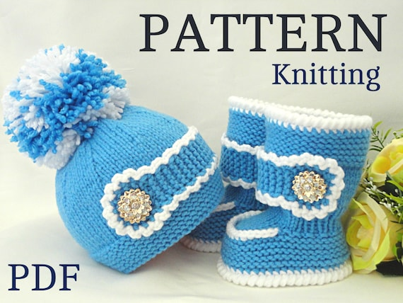 Epipa Knitting Pattern Baby Booties : P A T T E R N Knitting Baby Set Baby Shoes Knitted by ...