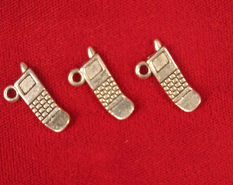"""10pc """"cellphone"""" charms in antique silver style (BC527)"""