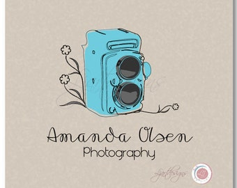 Premade Logo Design, Custom Logo, Photography Logo, Business Logo, Vintage Camera
