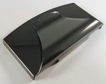 Business Card & Credit Card Holder Combo, Gunmetal with Free Engraving, Personalized Custom Business or Credit Card Holder