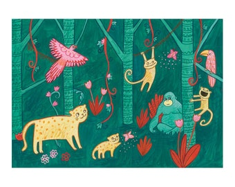 A Rainforest Print