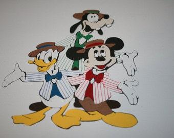 Disney - Dapper Dans Mickey Goofy Donald Die Cut Paper Piecing for Scrapbook Pages