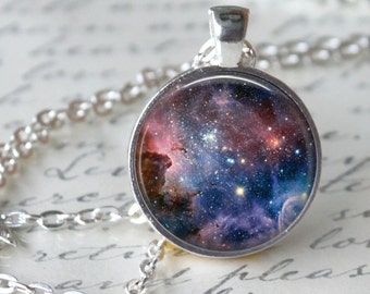 NEBULA Pendant Necklace Galaxy Universe Necklace Jewerly Orion Geekery Necklace Astronomy necklace gifts Geek pendant star necklace heaven