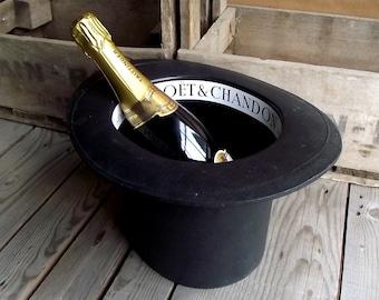 Seau à Champagne en forme de Chapeau Haut de Forme - Made in France - Décor Chic