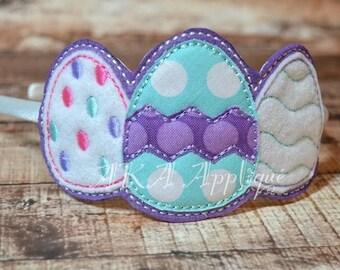 ITH Triple Easter Egg Headband SLIDER™ Embroidery Design